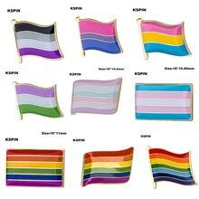 Gay Pride Intersex Pride Asexual Pride Bisexual Pansexual Genderqueer Transgender lapel pin badge 100pcs a lot Brooch Icons
