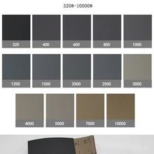 10Pcs/set Wet Dry Polishing Sanding Abrasive Sandpaper Paper Sheets Grit 220-7000