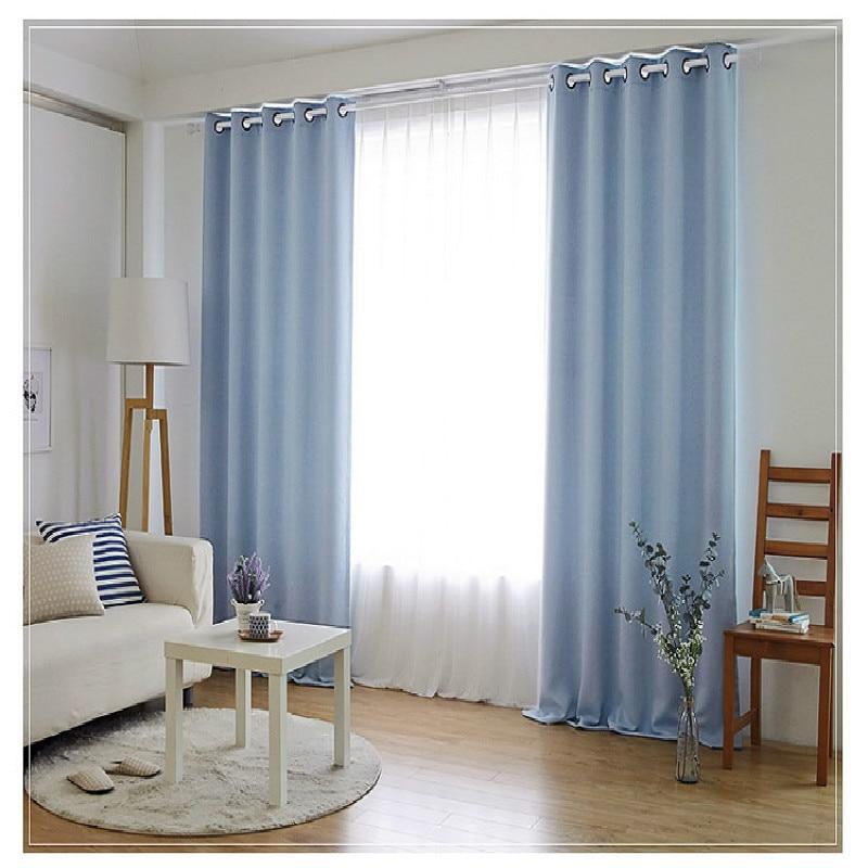 ستائر غرفة نوم بلون سادة ، تشطيب مخصص ، بسيط ، رمادي ، أزرق ، بيج ، بني ، لوحة واحدة