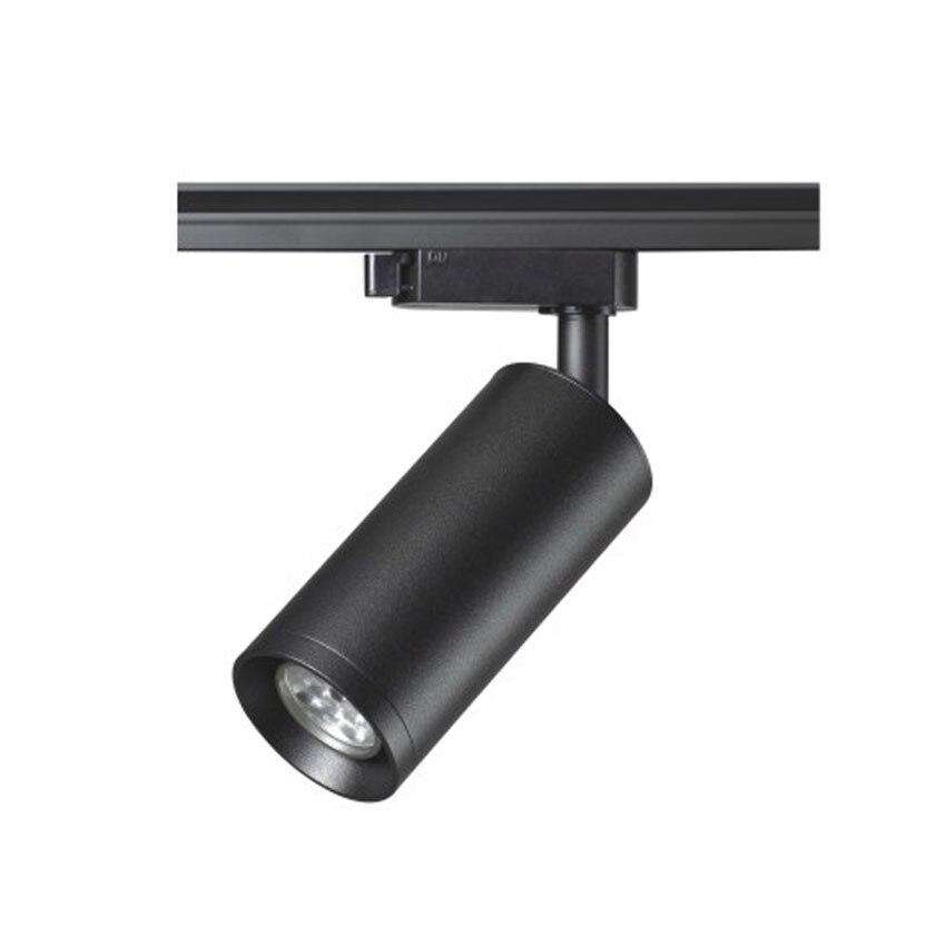 Светодиодный прожектор GU10 сменный светильник для дома Черный Белый Регулируемый потолочный прожектор 1 2 3 фазный замыкание 4 провода