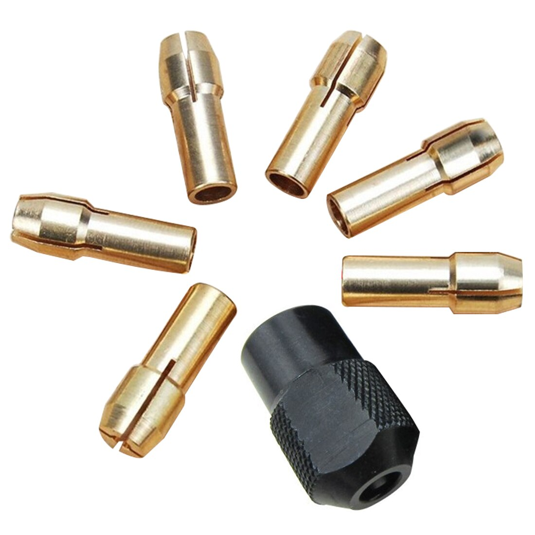 Mini portabrocas 7 Uds 1,0-3,2mm apto para Micro Twist Electronic dremel Drill Clamp Set Power Tool accesorios con llave