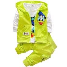 Costumes de Sport pour bébés   Vêtements pour bébés, design de dessin animé Donald canard, ensemble veste à capuche et pantalon pour bébés garçons