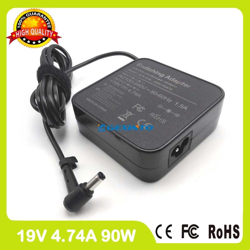 19V 4.74A 90W del ordenador portátil cargador de adaptador de alimentación de CA para Asus M740 M740S M740SU M745S M760 M760S M765S P450JB P450JF P450JN P450VP