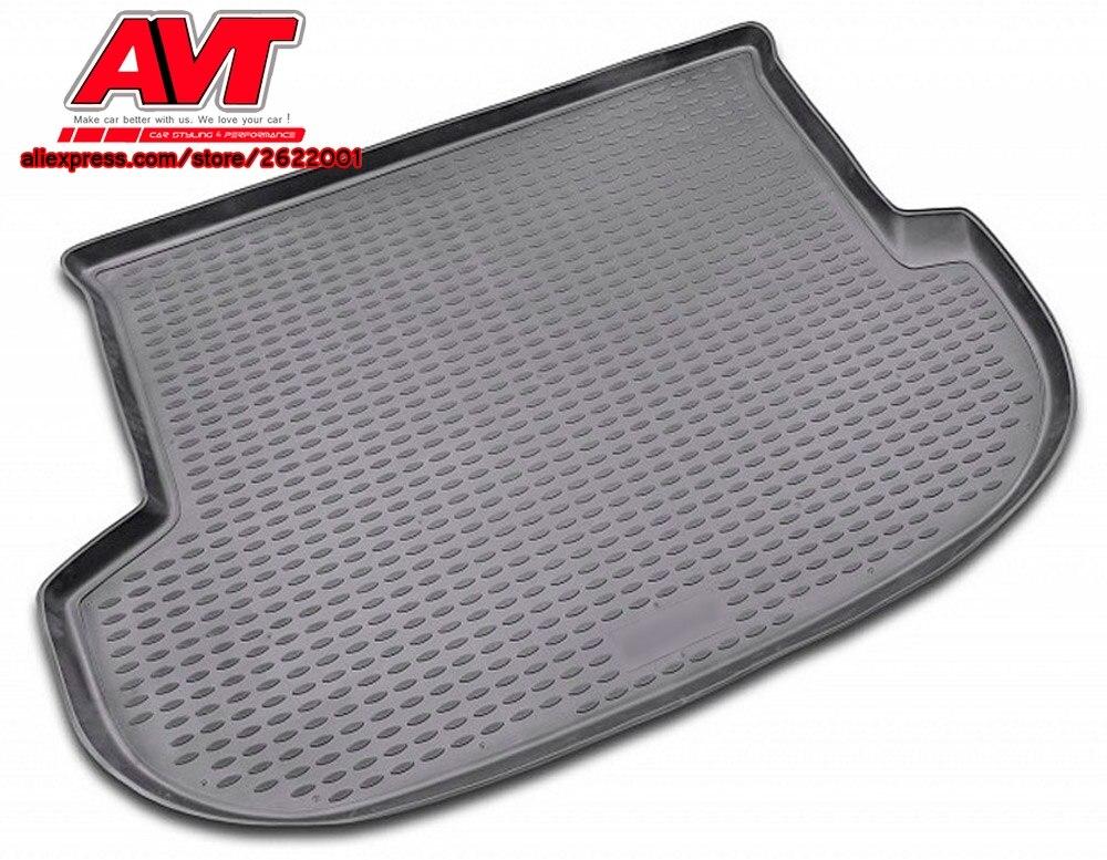 Коврики для багажника Hyundai Santa Fe 2006-2012-1 шт. резиновые коврики Нескользящие резиновые аксессуары для интерьера автомобиля