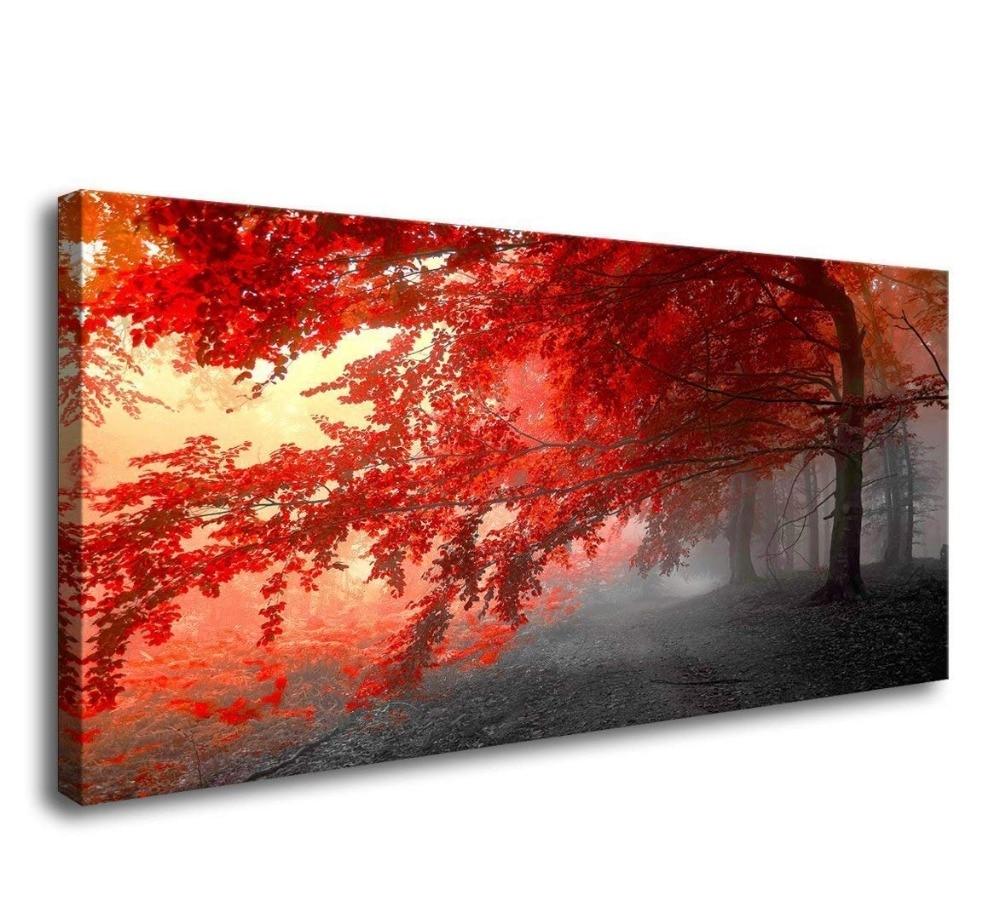 Grande Diy Diamante pintura árvores vermelhas, Seascape Diamante Bordado de strass venda fotos JS4730 ícones mosaico decoração de Casa