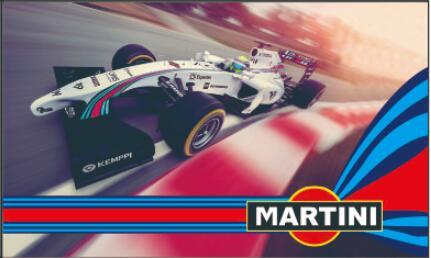 Custom Flag Car Martini Flag 3x5ft 100% Polyester 8