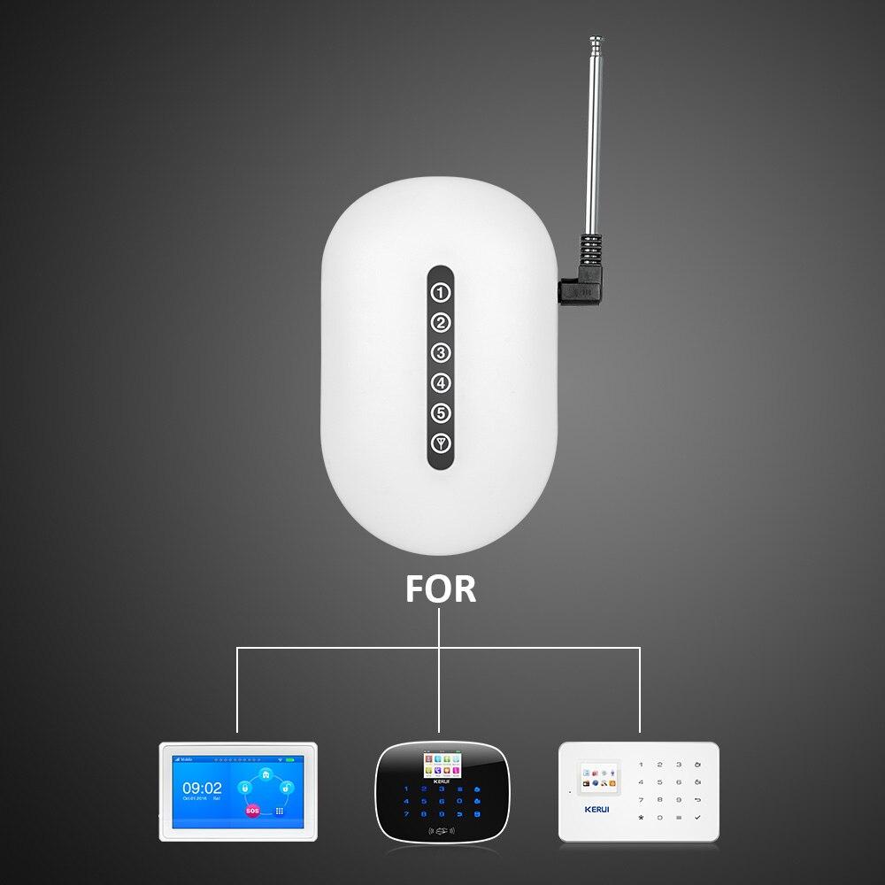 Repetidor de señal inalámbrico Kerui de 433 MHz, extensor expansor de señal Sensros para sistema de seguridad de Alarma para el hogar
