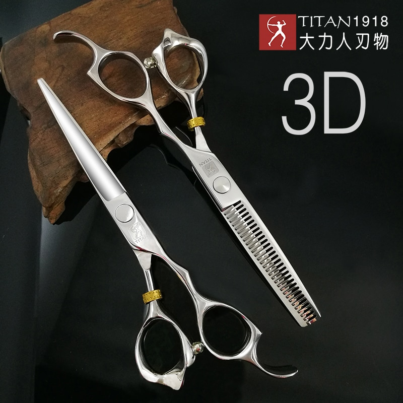 free shipping titan  Professional barber tools hair scissor