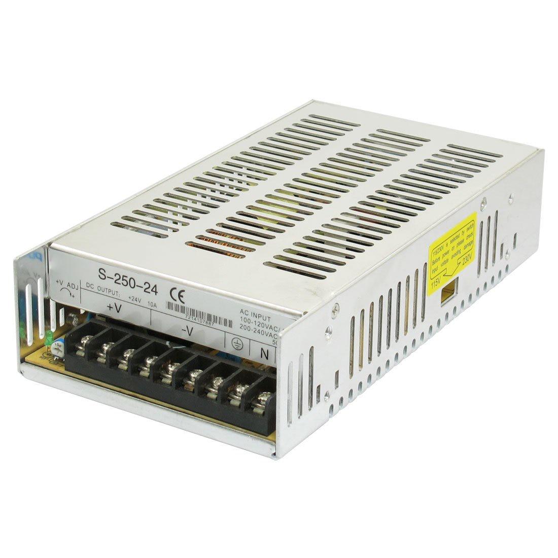 Fuente de alimentación conmutada de tres salidas, 24V CC, 10A, 250W para luz LED
