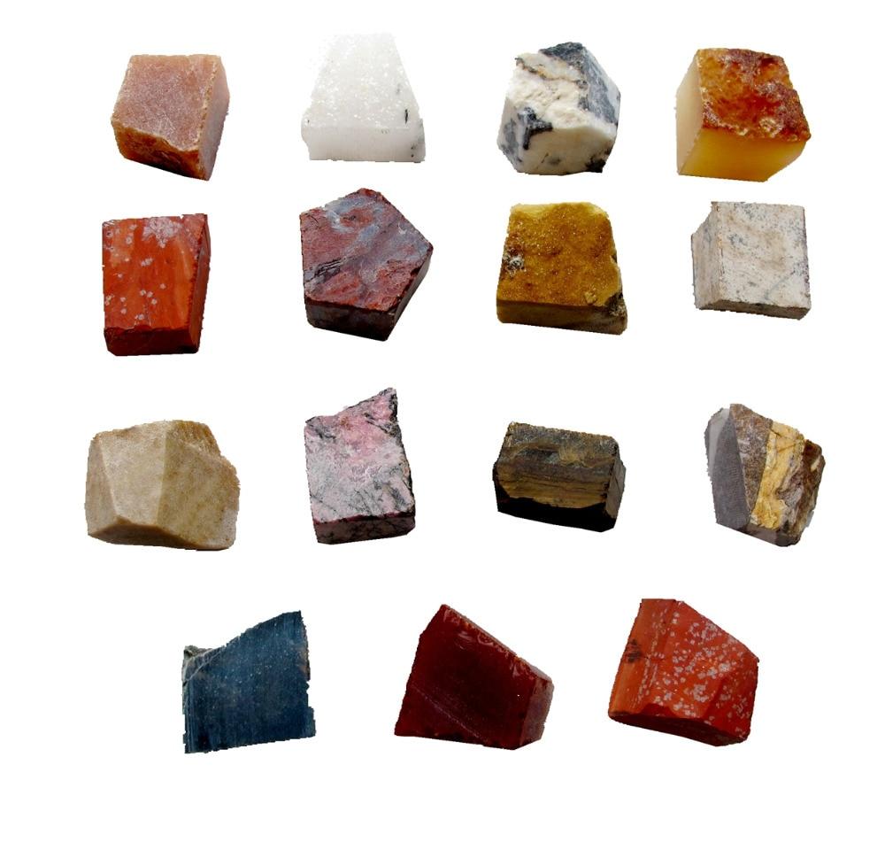 """Wholesale 6pcslot Mixed Stone Bead,Raw Stone Cube Healing Stone Chakra Beads Loose Healing Chakra Stone Approx 1"""""""