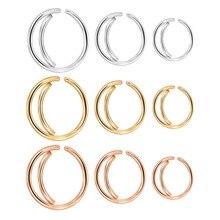 GAGABODY 18G 2 pièces en acier chirurgical lune nez anneau cerceau narine anneaux 8/10/12mm serré Septum Piercing