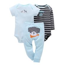 Baby New Hot Sale Cotton Fleece Full Boys Girl Clothing Set 3pcs/set Dog Trousers + 2pcs Climbing Clothes 0-2y 2020 Spring Suit