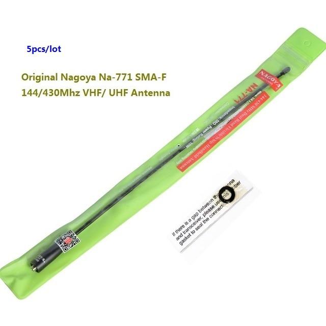 4 шт оригинал, NAGOYA Na-771 SMA-F 144/430Mhz VHF/UHF Антенна для Kenwood двухстороннее радио Baofeng UV-5R иди и болтай Walkie антенна для рации uv82