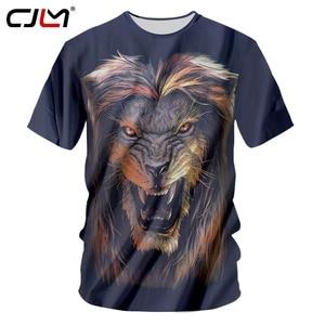 CJLM New Harajuku Tshirt Men Black Print Lion King 3d T Shirt Animal T-shirts Man Bodybuilding Fitness Workout Casual Tee Shirts