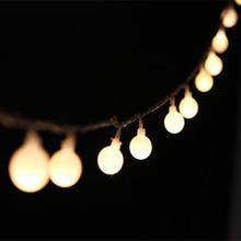 Guirnalda de luces Led de 20-50 mini bolas, 9 colores, románticos, para vacaciones, Navidad, fiesta en casa, decoración, luz nocturna fantástica, farol IL