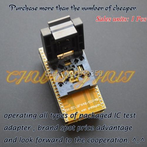 QFN48 to DIP48 Programmer Adapter WSON48 MLF48 DFN48 Adapter IC test socket Pitch=0.4mm size=6x6mm fbga 48pin programmer adapter bga48 to dip48 adapter ic socket ic test socket