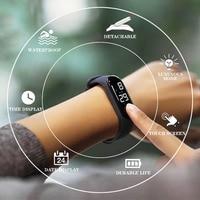 2019 LED Digital l Date Alarm Waterproof Sport Electronic Luminous Sensor Watches Fashion Men and Women Watches Dropshipping Q