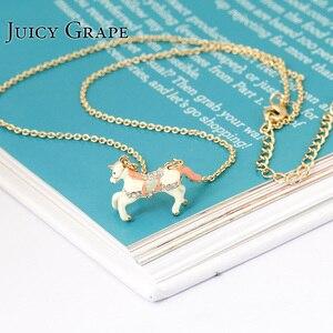 Colares Femininos 2017 Crystal Inlay White Unicorn Horse Choker For Women Fashion Jewelry Bijoux Femme Bijuteria Gifts For Women