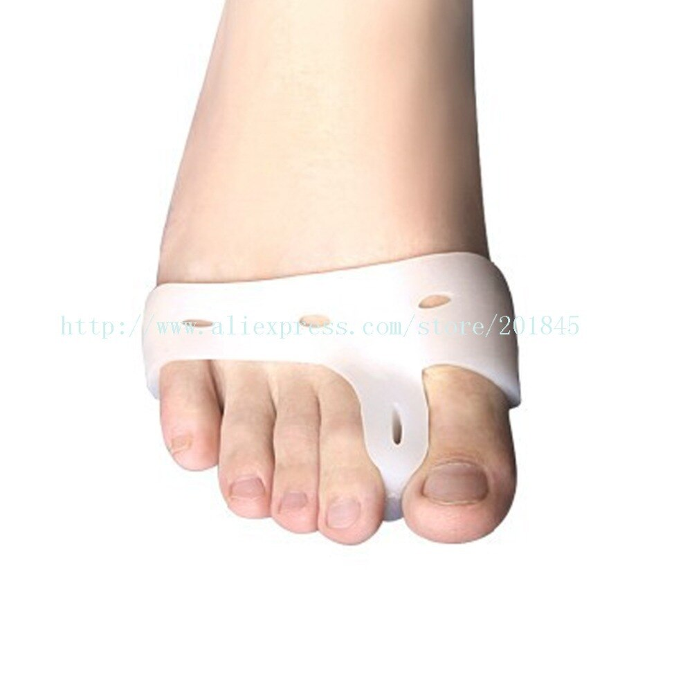 20 pçs polegar branco valgus corrector pé toe ferramentas de enfermagem gel silicone confortável para pés andando