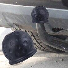 CITALL voiture caoutchouc noir 50mm boule de remorquage boule de remorquage protecteur couvercle bouchon attelage caravane remorque