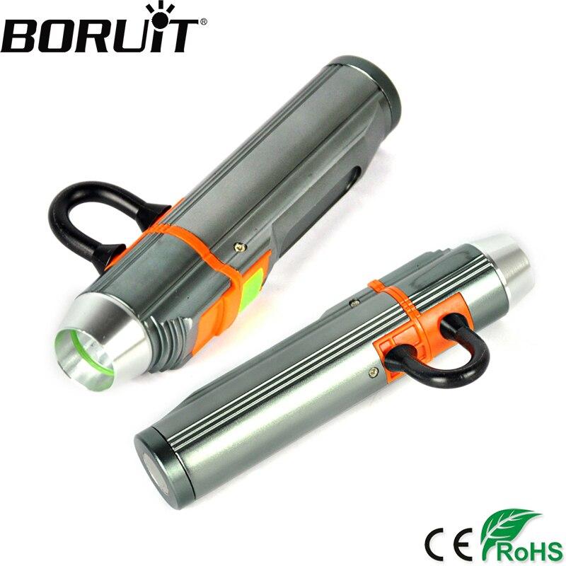 BORUiT продвижение 1000 люмен Q5 светодиодный мини-фонарик из алюминиевого сплава 3-фазный фонарик USB Перезаряжаемые Кемпинг Портативный Фонари