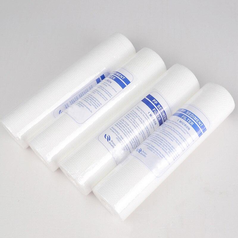 Purificador de agua 10 pulgadas 4 Uds 1 Micra sedimento filtro de agua cartucho PP algodón filtro sistema de filtro de agua