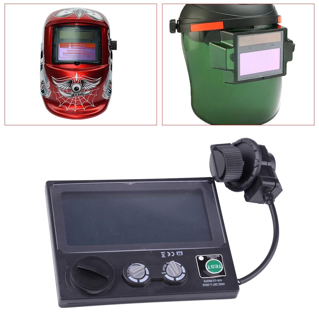 LETAOSK, ajustable, LCD Solar automático, oscurecimiento, casco de soldadura, tapa de lente, gafas UV IR, filtro de sombra DIN4 DIN9-13