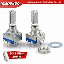 5PCS Plum maniglia 20 millimetri rotary encoder interruttore di codifica/EC11/potenziometro digitale con interruttore 5 Spille
