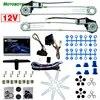 Kit de vitres électriques universelles pour motos 2 portes avant de voiture avec interrupteurs et harnais # HQ905