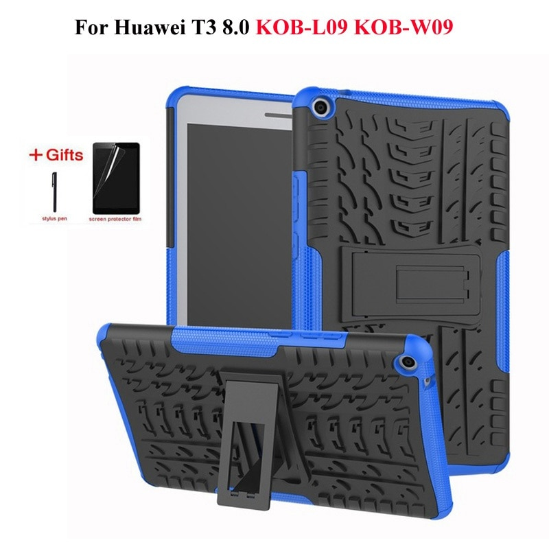 Сверхмощный Гибридный противоударный чехол для Huawei MediaPad T3 8,0 KOB-L09 KOB-W09 чехол для планшета Honor Play Pad 2 Чехол + подарки