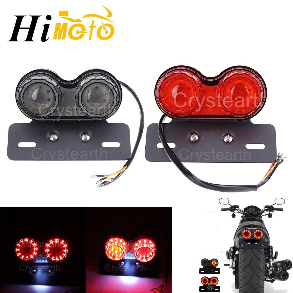 Universal de la motocicleta LED luz trasera de freno trasero luz de freno soporte para matrícula señal para Honda Harley Bobber