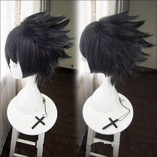 Clásico Anime NARUTO Uchiha Sasuke Cosplay accesorios peluca hombres aumento negro Cosplay del pelo peluca accesorios para fiestas de Halloween pelo