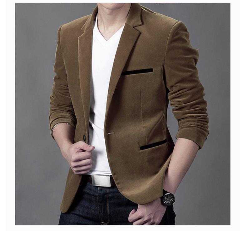 Blazer de marca de moda para hombres 2019, Chaqueta de traje ajustada informal de estilo británico, Blazer para hombre, abrigo Masculino, talla grande 3XL