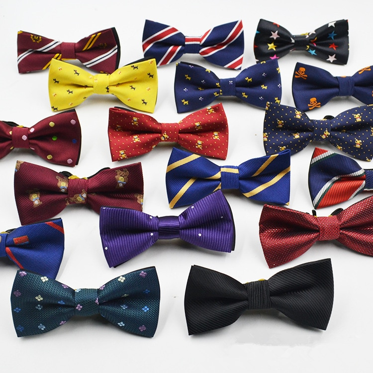 AliExpress - 53 Color Children's Bow Tie Fashion Jacquard Baby Neckties Tie Baby Kid Kids Classical Pet Striped Butterfly Elastic Cord BowTie