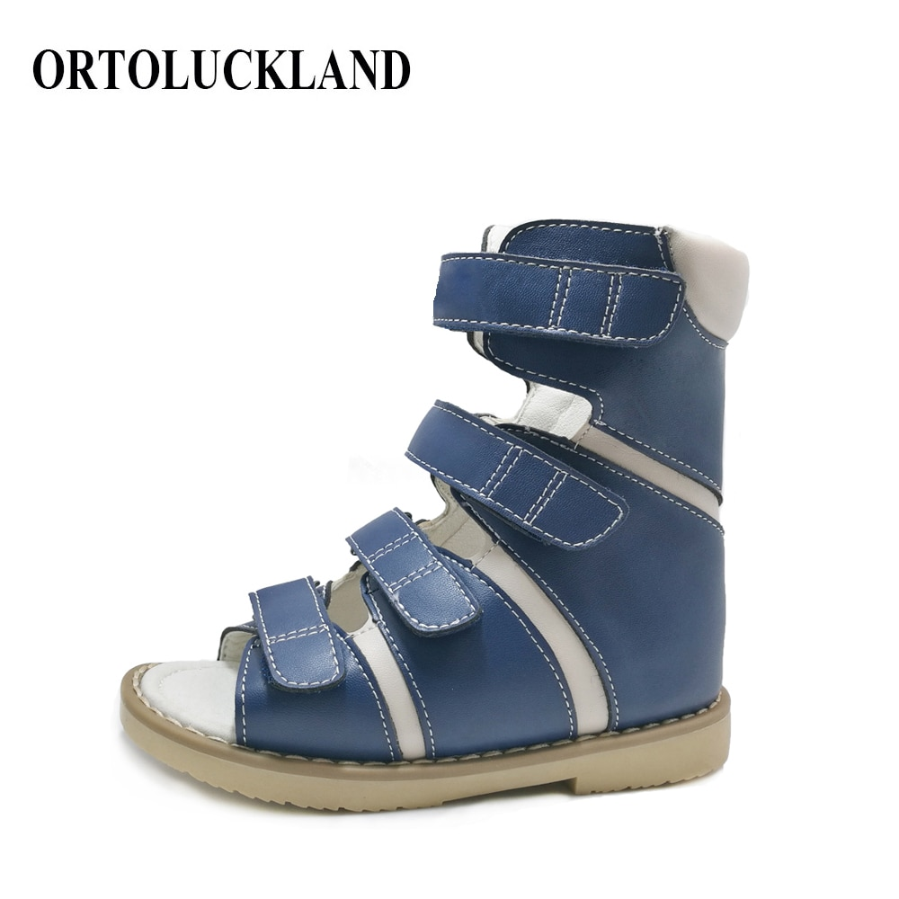 Ortoluckland Orthopedic Shoes For Kids Children Boys Sandals Latest Original High Ankle Toddler Baby Therapy Leather Footwear enlarge