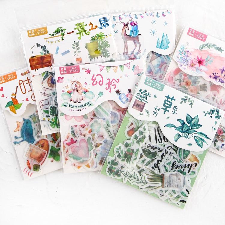 40-pz-lotto-sveglio-washi-carta-cancelleria-sticker-set-adesivi-kawaii-etichetta-della-decorazione-per-ufficiale-planner-scrapbooking-album-diario