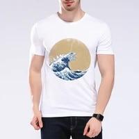 2020 nouvel ete Ukiyo-e vague impression t-shirt a manches courtes t-shirt homme t-shirt hommes Vetement Licorne m-E5-47