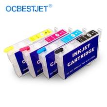 4 couleurs/Ensemble T0731-T0734 Cartouche Dencre Rechargeable Pour Epson Stylus CX7300 CX8300 C79 C90 CX5900F CX6900F CX5500 CX5501 Imprimante