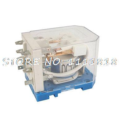 JQX-40F 2Z 40A DC 12 V bobina PCB relé electromagnético DPDT 8 Pin 2 NO 2 NC