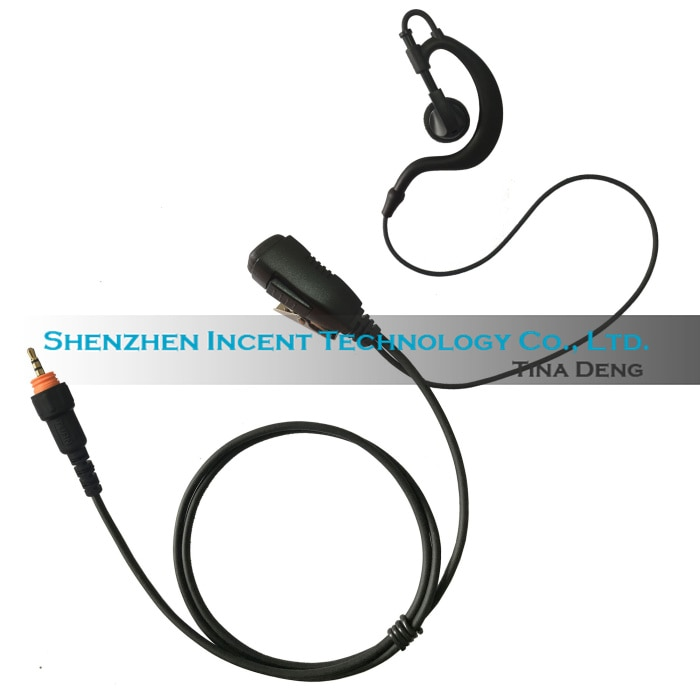 VOIONAIR 20 قطعة/الوحدة G شكل الأذن هوك سماعة الأذن سماعة سماعة PTT Mic لموتورولا CLP1010 CLP1040 CLP1060 CLP446
