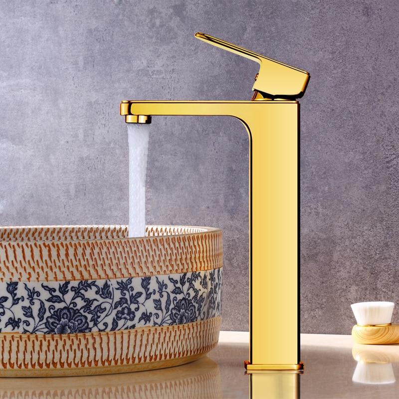 Basin Faucets 4 colors Faucet Single Hole Single Handle Basin Faucet Crystal Handle Silver Mixer Tap Chrome/Gold/White/Black