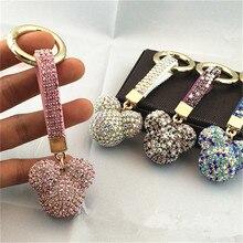 Zircon porte-clés pendentif gland Mickey ours balle voiture sac coréen luxe strass accessoires mode bijoux-JH