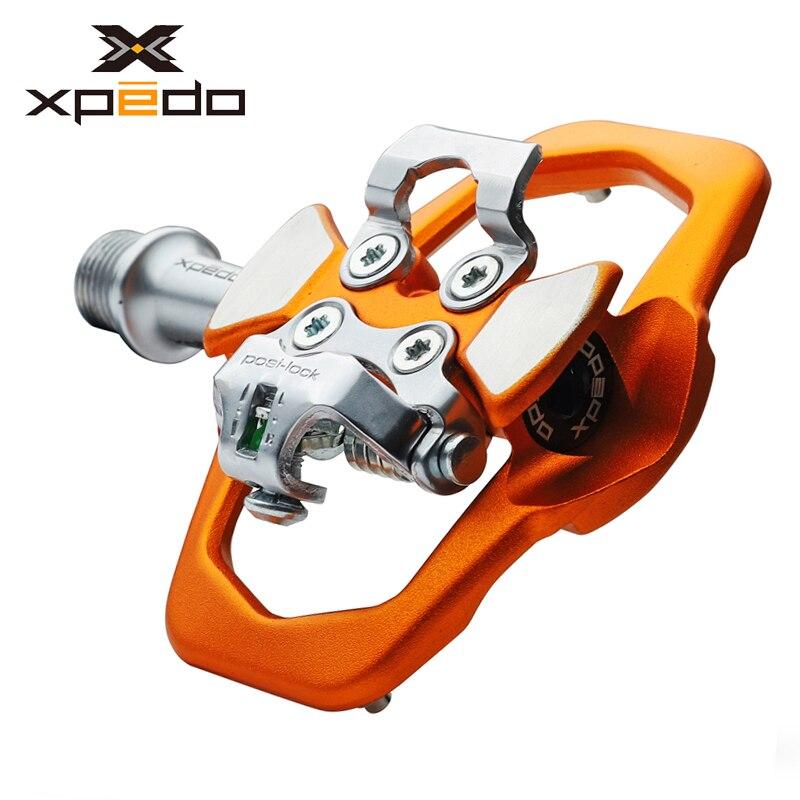 Xpedo XCF12AC ultraliviano 295g, Pedal de bicicleta de montaña con 3 rodamientos, pedales de bloqueo automático de aleación de alta resistencia para bicicleta de montaña