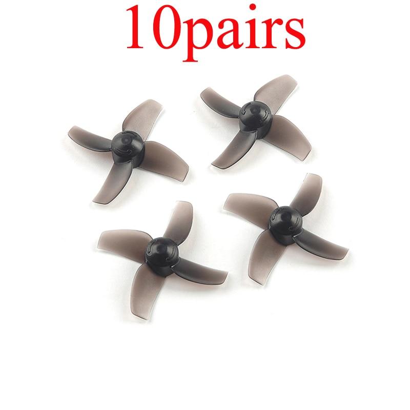10 pares pc 40mm hélices 4 lâminas prop 1.0mm diâmetro do furo hélice para happymodel mobula7 fpv 716 720 0603 0703 0802 8520 motores