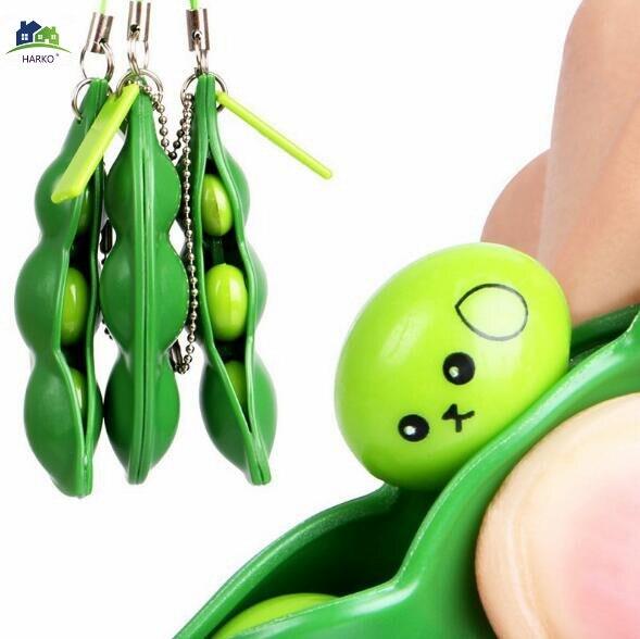 Frijoles blandos 1 Uds Juguetes Divertidos divertidos guisantes bola Squeeze Beans Fidget juguetes Anti estrés alivio juguetes para niños adultos