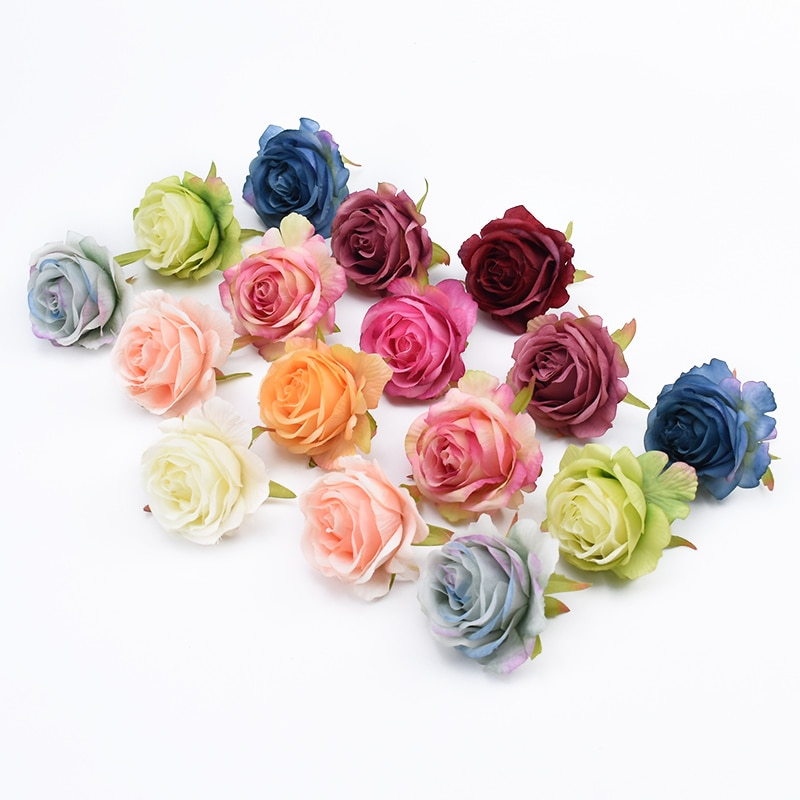 AliExpress - 10 Pieces Christmas home decor Garlands party wedding bridal accessories clearance diy silk roses flower wall Artificial flowers