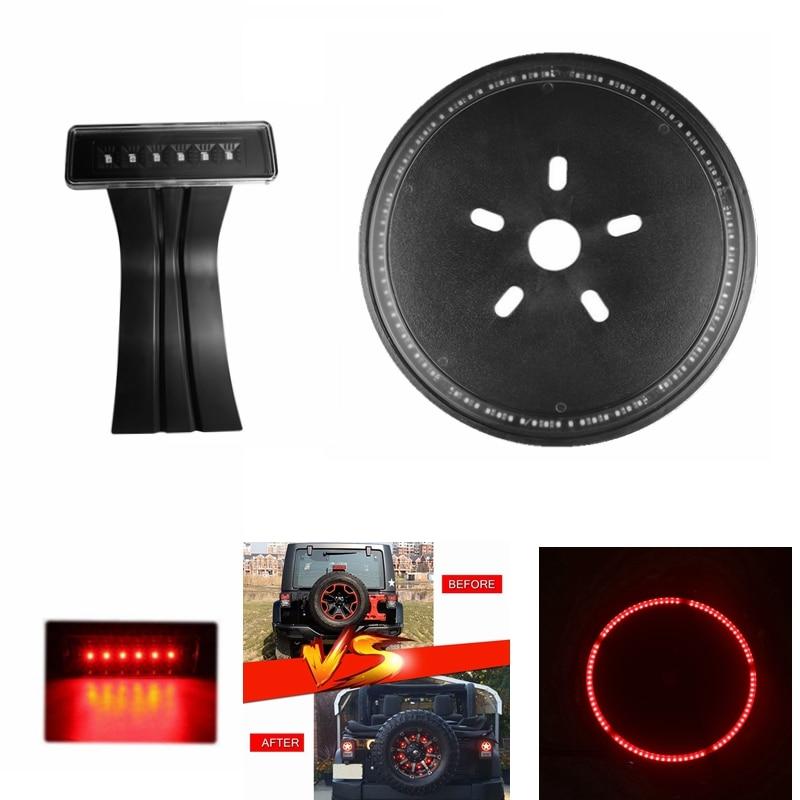 Spare Roda Pneu LED 3rd Terceiro Anel de Luz de Freio Lâmpada para Jeep Wrangler JK CJ YJ TJ LJ