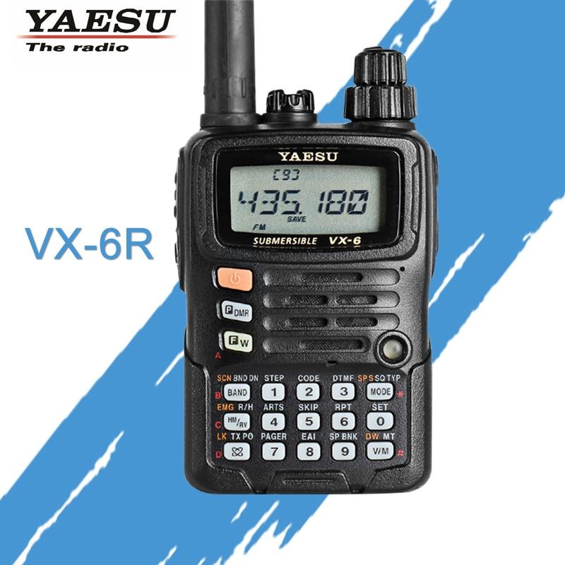 General Walkie Talkie for YAESU VX-6R Dual-Band 140-174/420-470 MHz FM Ham Two Way Radio Transceiver YAESU VX-6R Radio