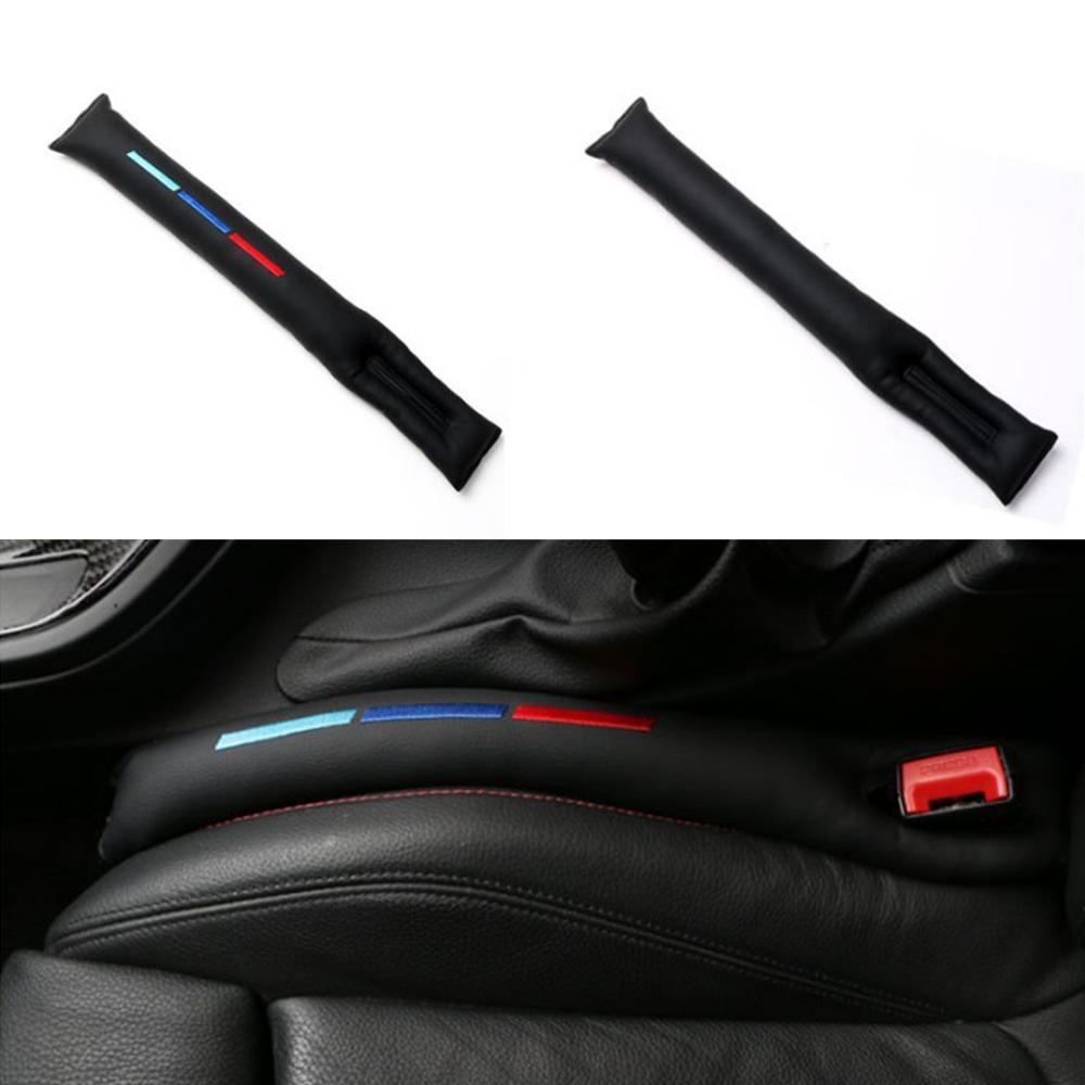 2 uds asiento de coche grieta tapón de brecha de la PU de cuero Protector a prueba de fugas Protector para asiento de coche en protección de coche limpieza enchufe para BMW Mercedes