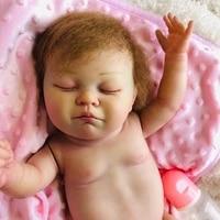 20 50cm full body reborn silicone babies dolls high end soft silicone vinyl toddler children birthday gift present bathe toy